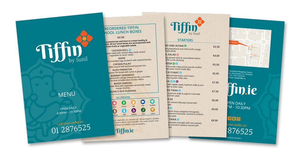 Tiffin Menu